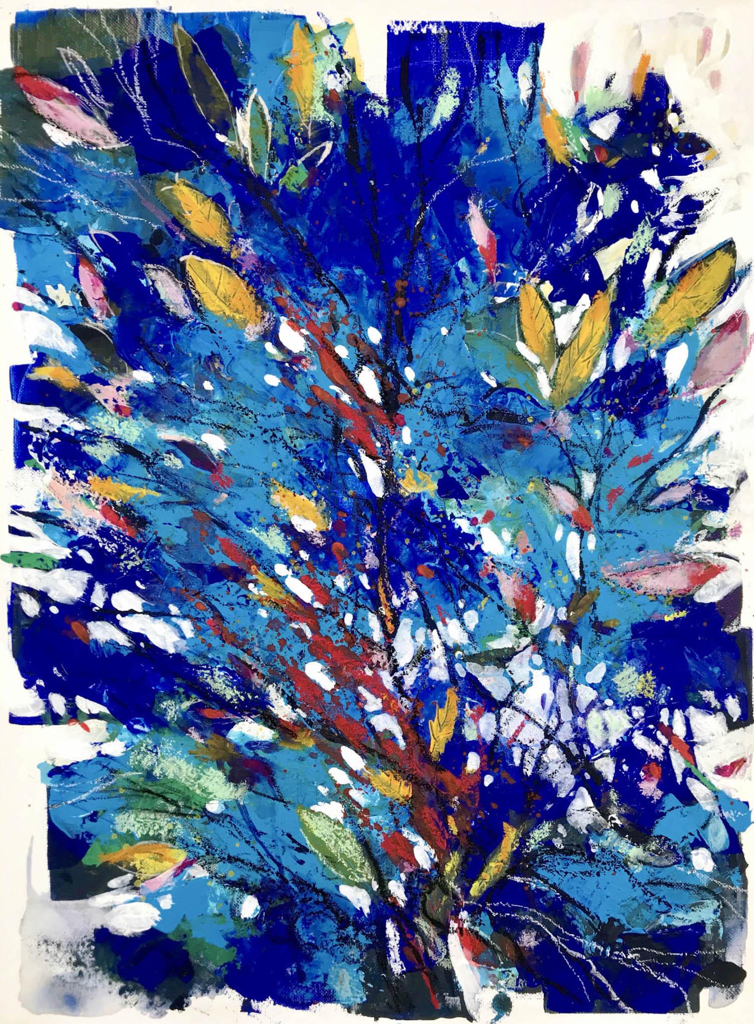 Cespugli nel blu